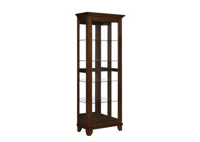 Cedar Casual Warm Brown Curio Cabinet