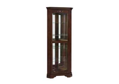 Mercury Traditional Golden Brown Curio Cabinet