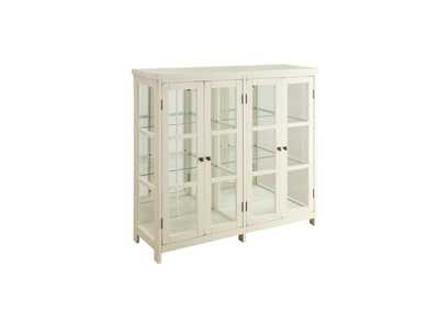 Off White Transitional White Accent Cabinet