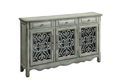 Image for Antique Green Traditional Antique Green Three-Door Cabinet