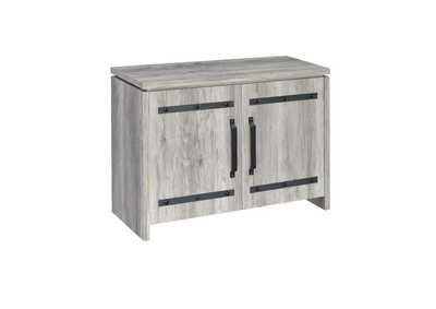Image for Grey Driftwood Rustic Grey Accent Cabinet