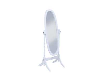 Image for White Cheval Mirror
