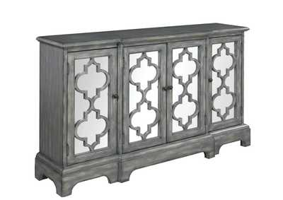 Sonic Silver Rustic Grey Accent Cabinet