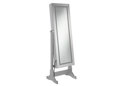 Silver Jewelry Cheval Mirror