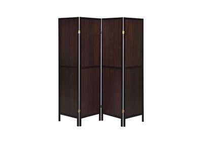 Rustic Tobacco Rustic Tobacco and Cappuccino Four-Panel Screen