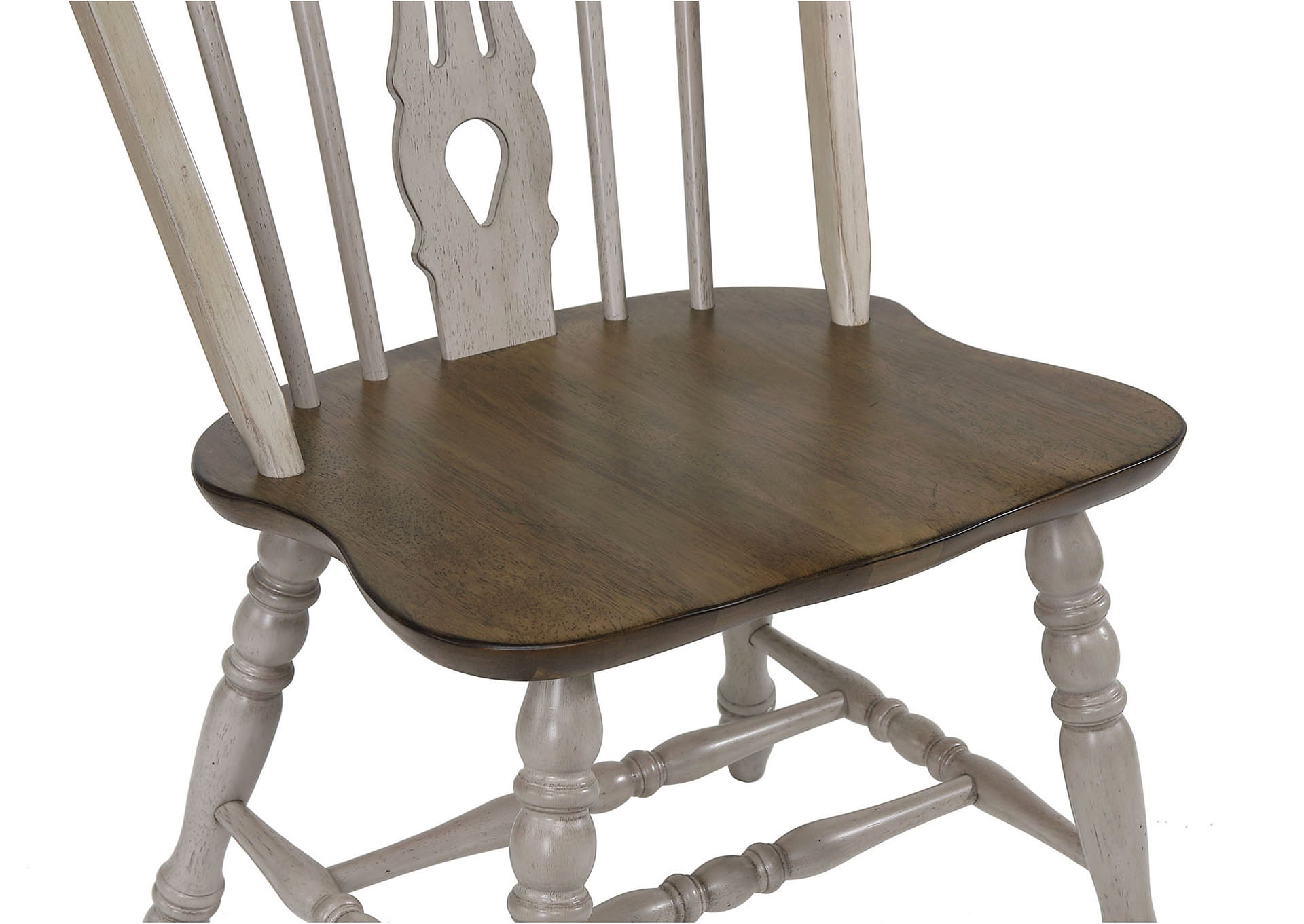 Jack Natural Keyhole Chair K/D,Crown Mark