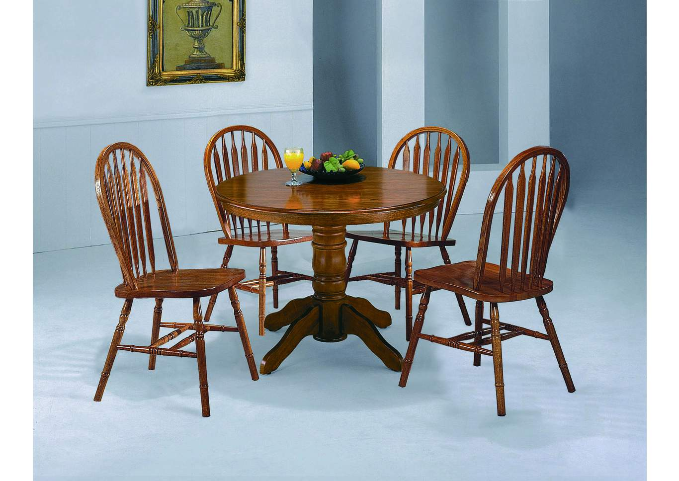 Dark Oak Arrow Windsor Chair 38 H,Crown Mark