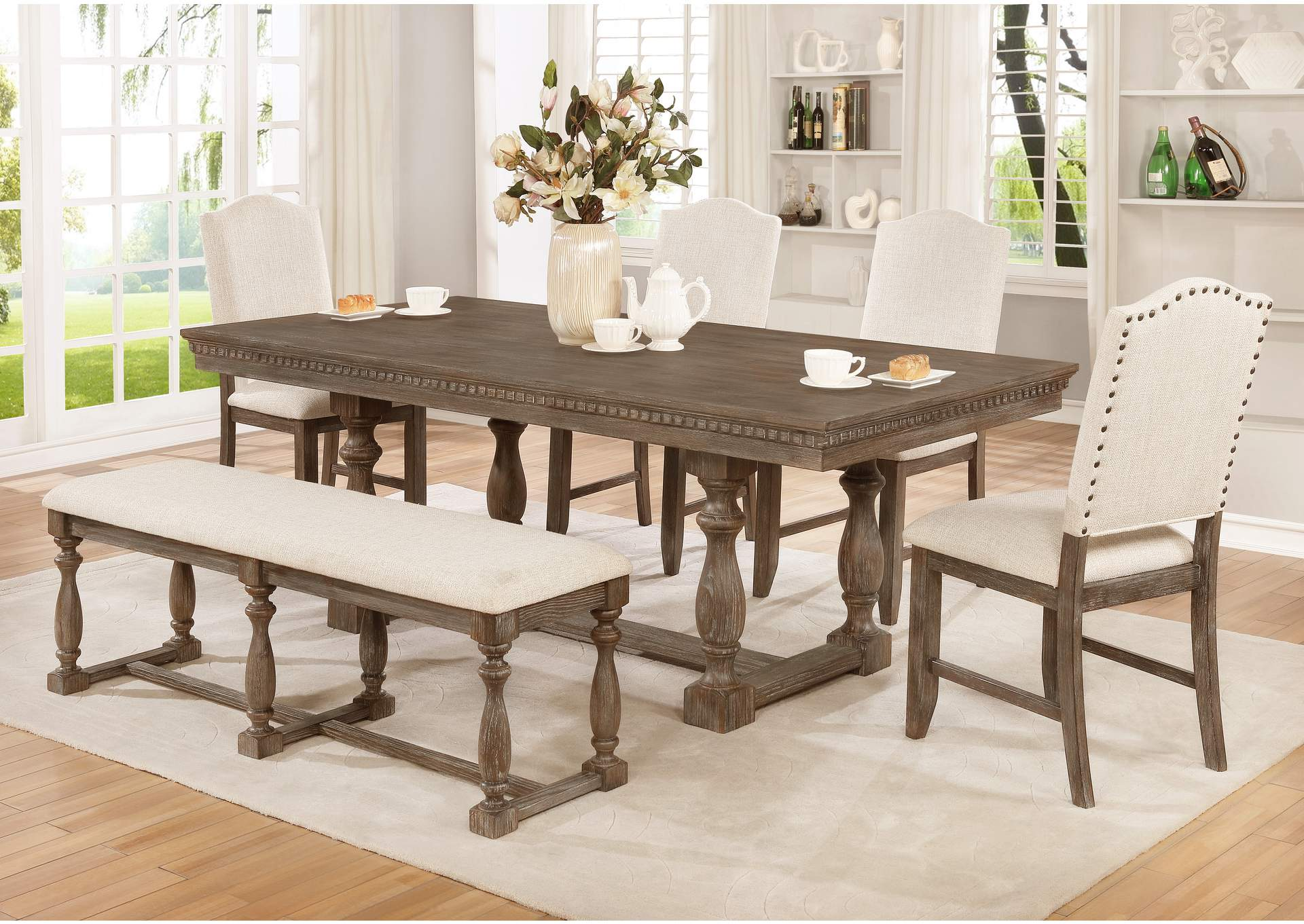 Regent Rectangular Dining Table,Crown Mark