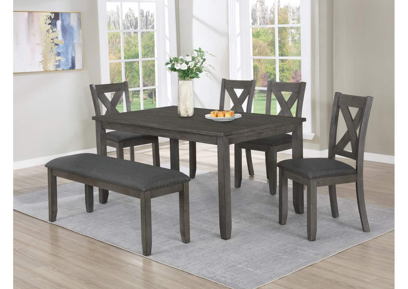 Favella Dark Grey Dining Table Kirk Imports