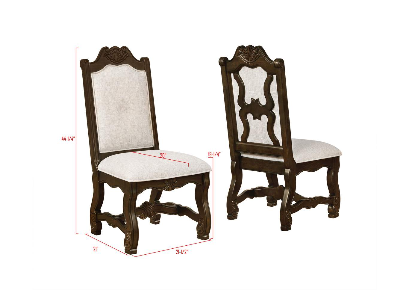 Pierre Side Chair,Crown Mark