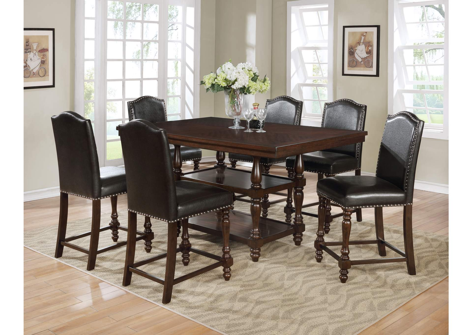 Langley Counter Height Dining Table,Crown Mark
