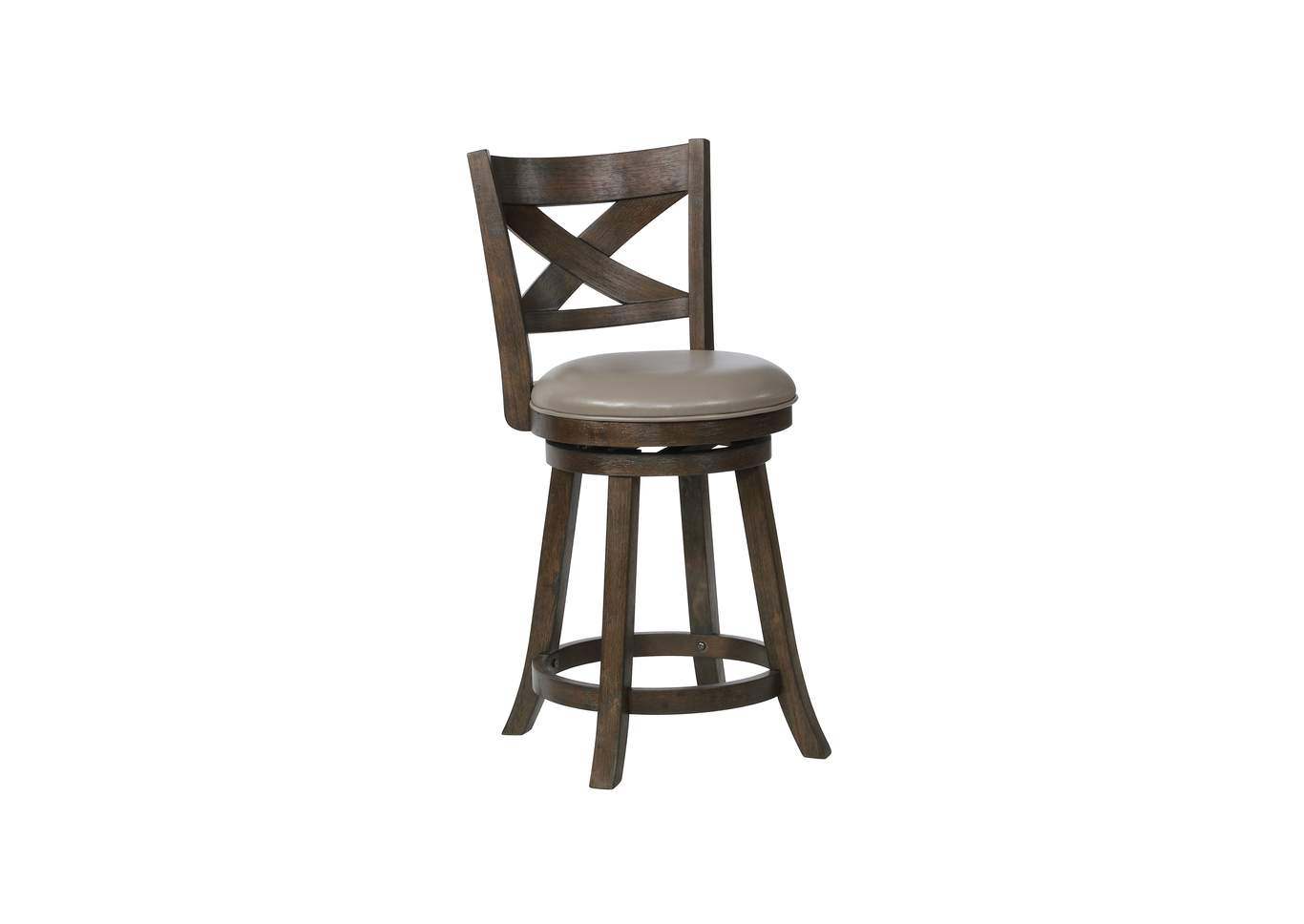 Kipper Grey Swivel Pub Stool K/D,Crown Mark