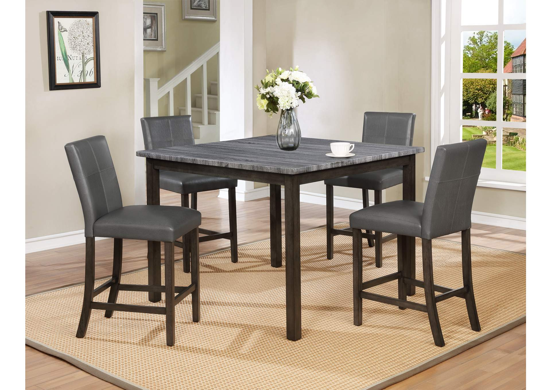 Pompei Grey Top Ct Height Table,Crown Mark