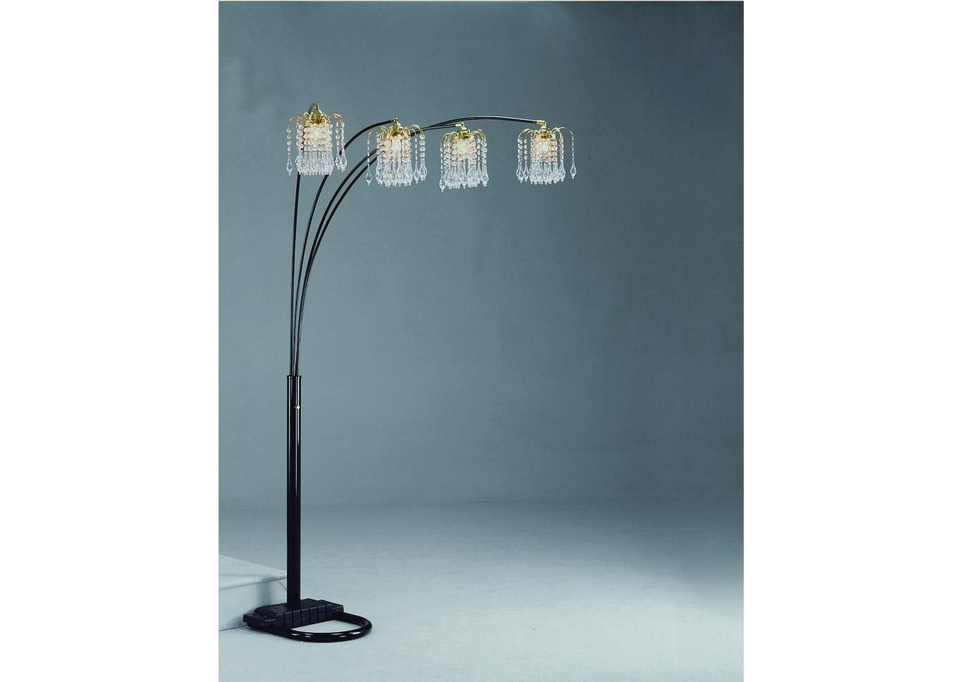 Rain Drop Black Arc Lamp 84 H,Crown Mark