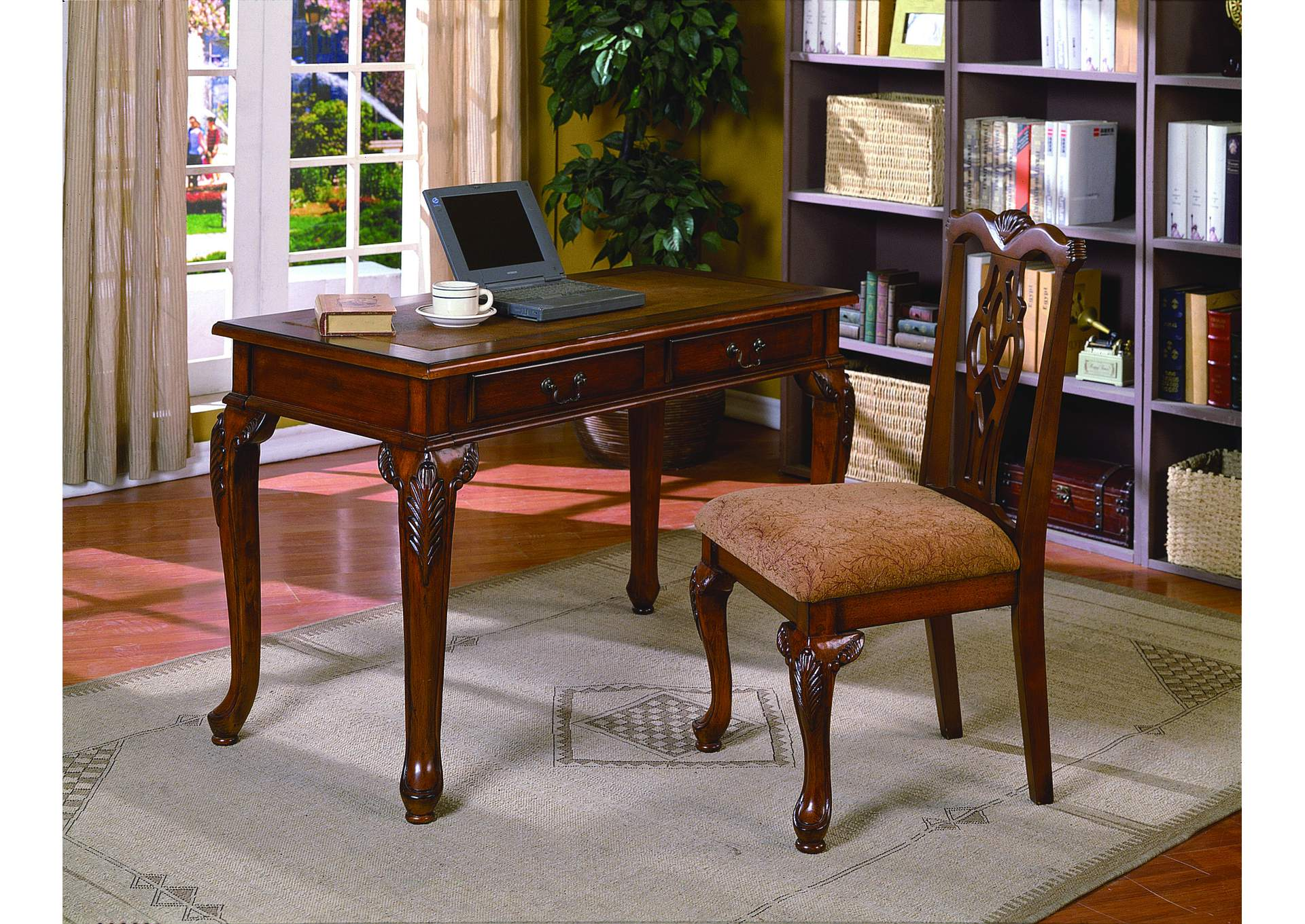 Fairfax Home Office Desk&Chair Set,Crown Mark