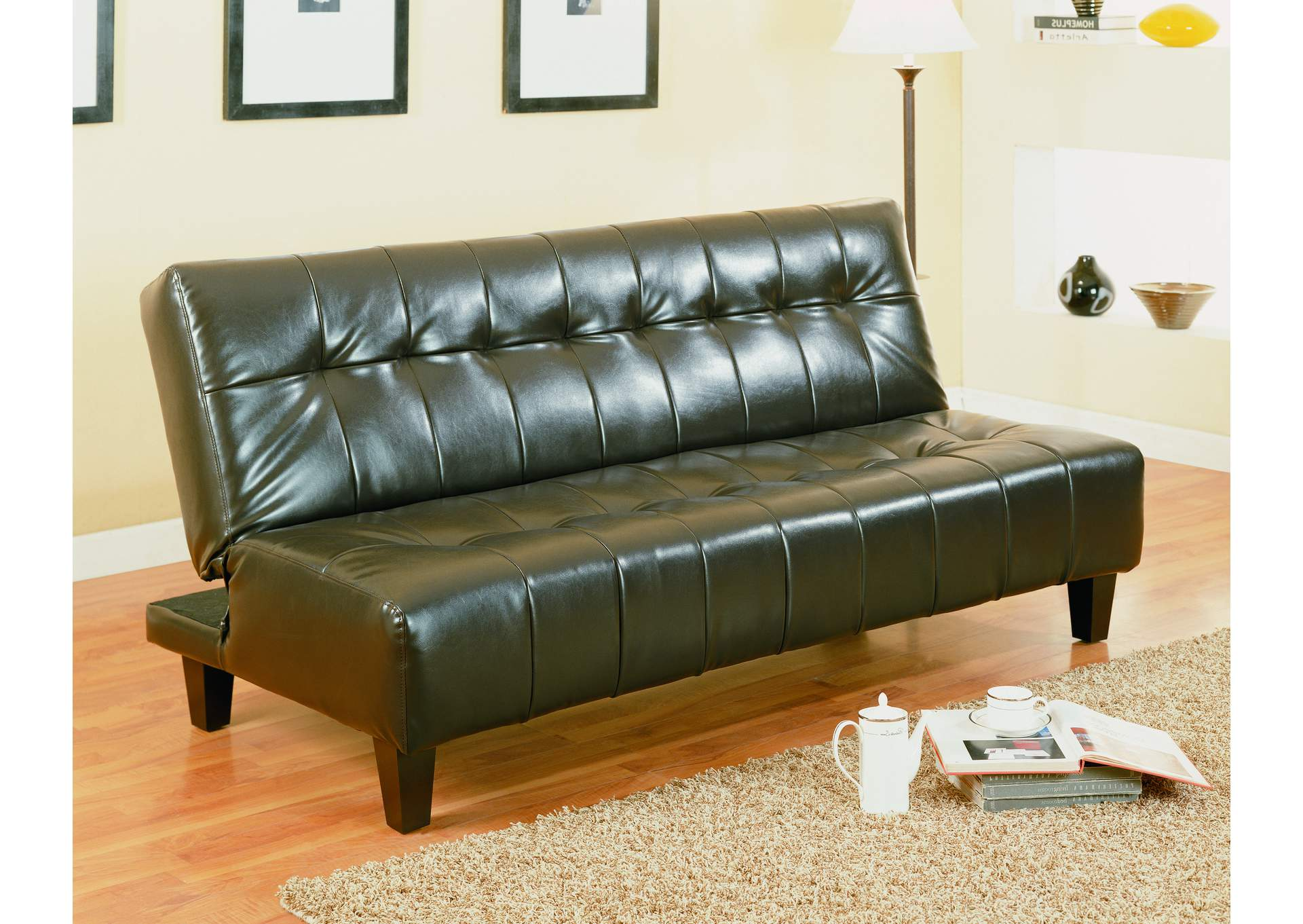 Marco Espresso Adjustable Sofa,Crown Mark