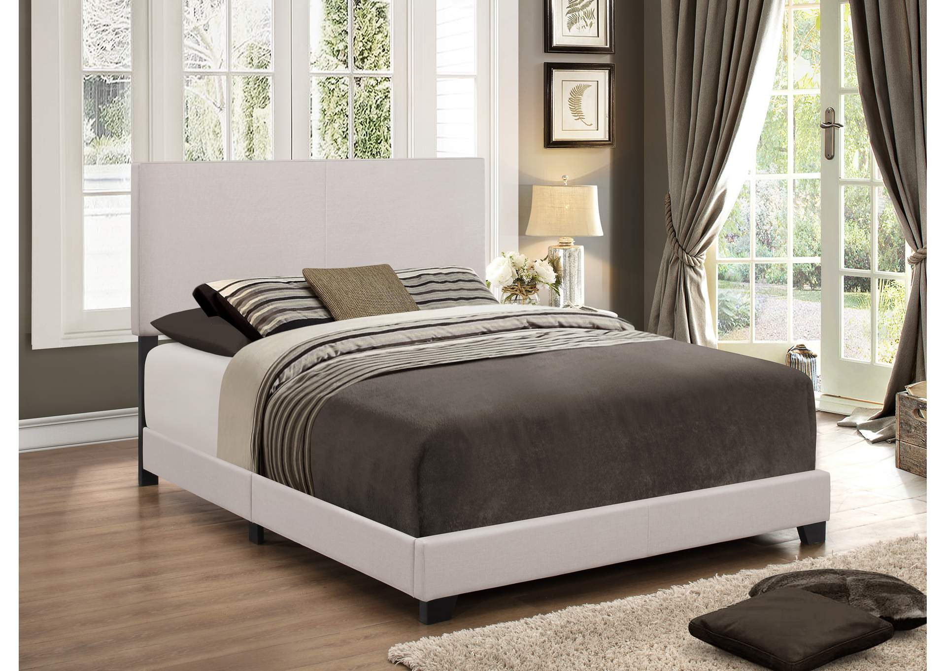 Erin Khaki Queen Bed,Crown Mark
