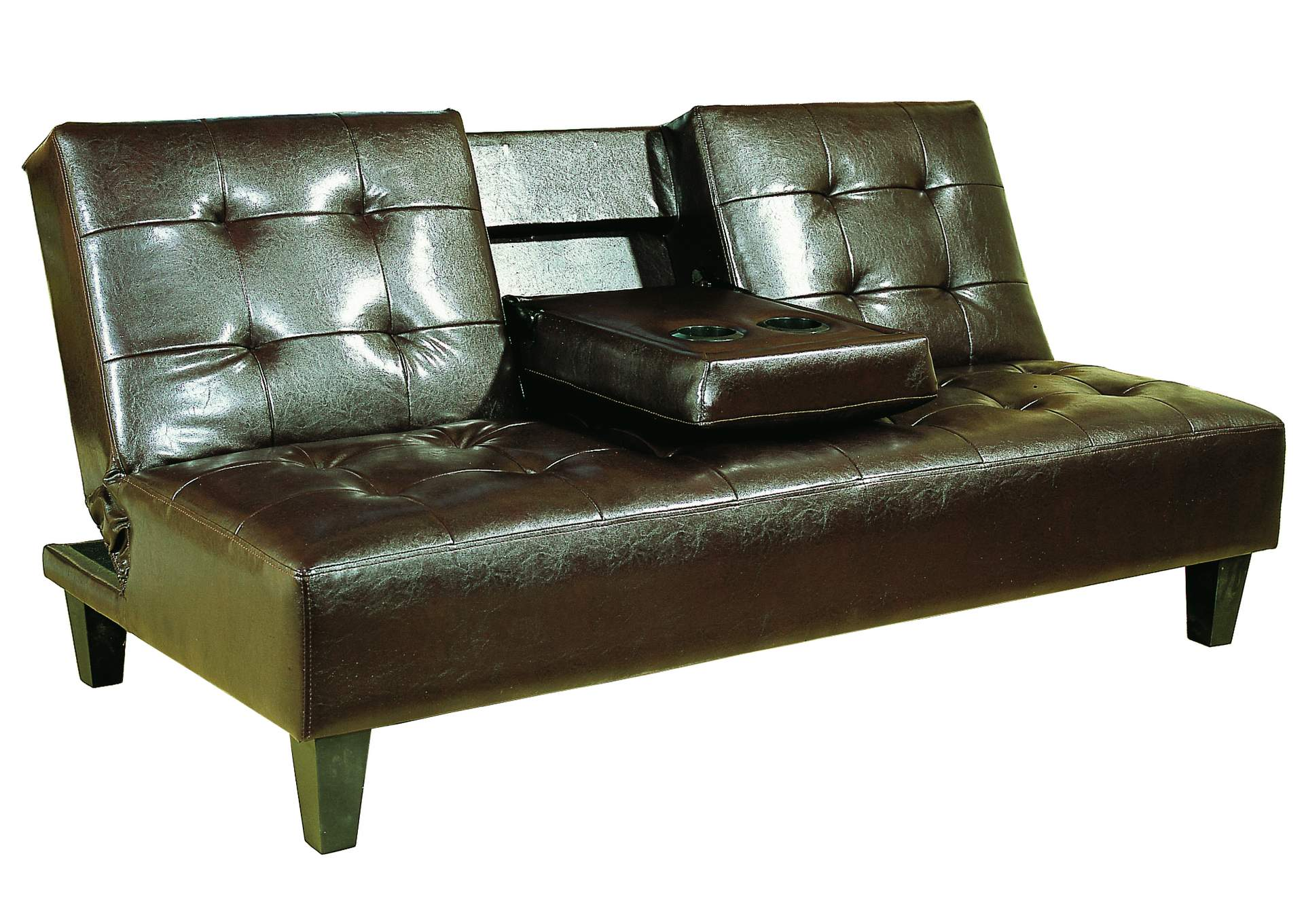 Bennett Espresso Adjustable Sofa,Crown Mark