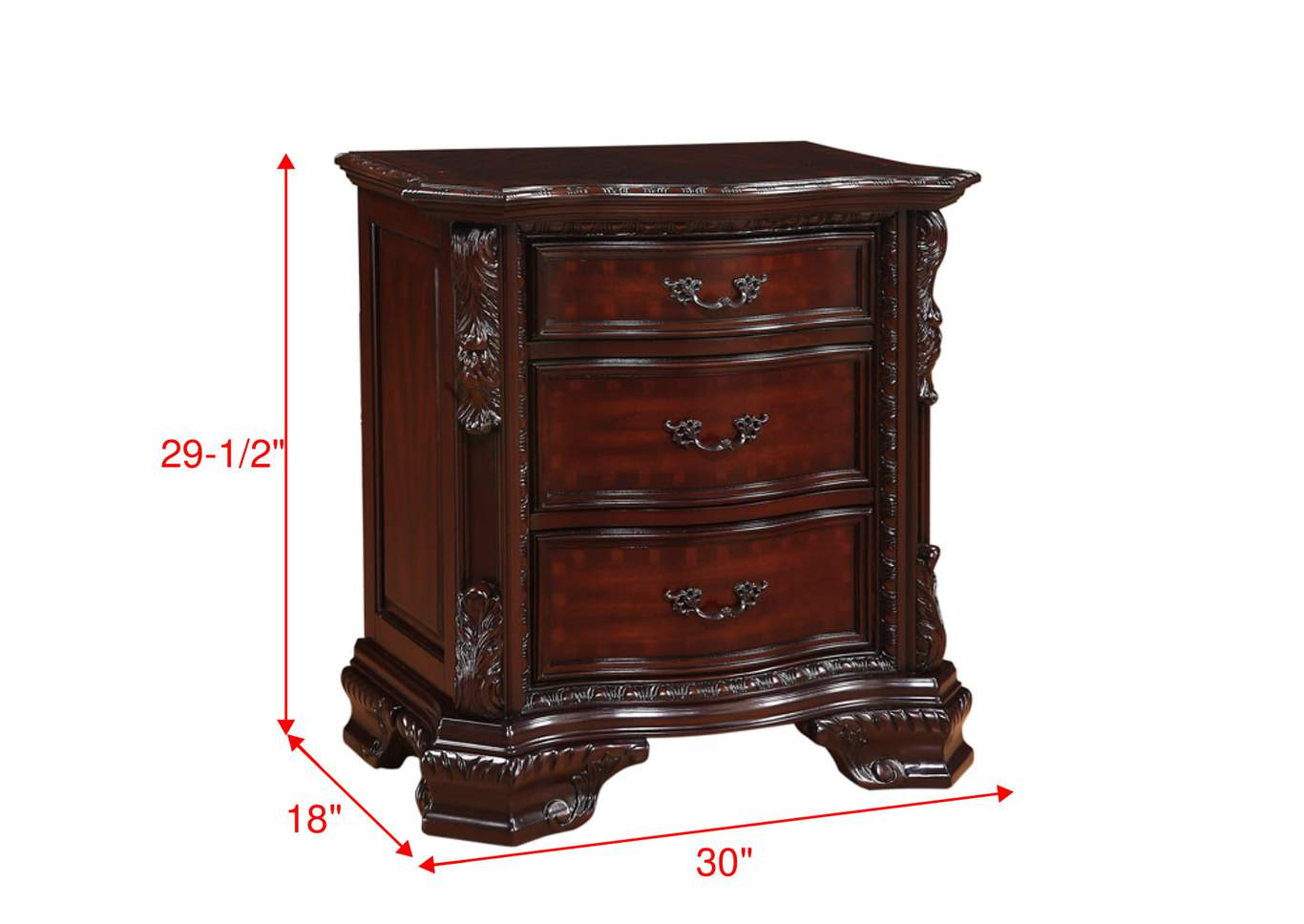 Sheffield Dark Cherry Night Stand,Crown Mark