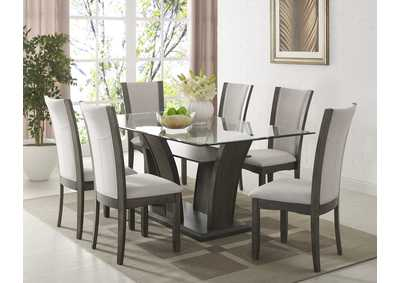 Image for Camelia Grey Rectangular Dining Set W/ 6 Chairs