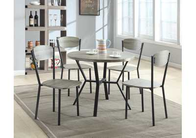 Image for Blake 5 Piece Set Round Dining Table/Chair