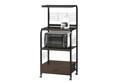 Image for Kitchen Black Kitchen Shelf On Casters