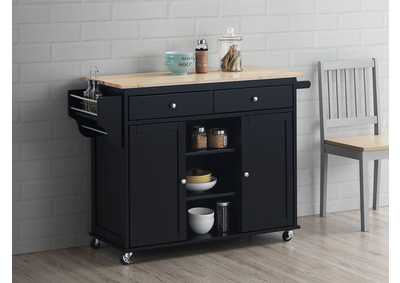 Image for Grady Natural/Black Kitchen Cart