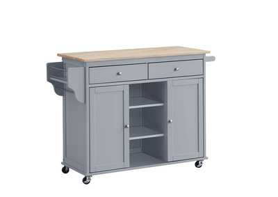 Image for Grady Natural/Grey Kitchen Cart