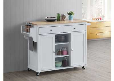 Image for Grady Natural/White Kitchen Cart