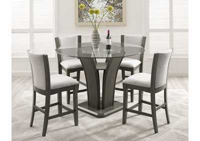 Image for Camelia Grey Round Dining Set W/ 4 Chairs
