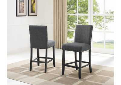 Image for Wallace Grey Counter Height Chair