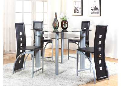 Image for Echo Black Square Glass Top Dining Set W/ 4 Chairs