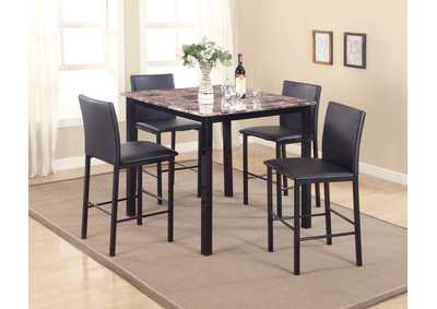 Image for Aiden 5 Piece Set Counter Height Dinette