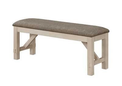 Image for Maribelle Chalk Grey Bench