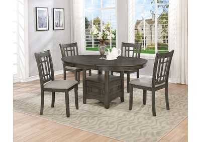 Hartwell Grey Dining Table (1X18 L),Crown Mark