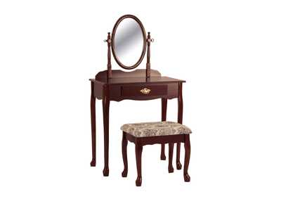 Image for Oval Vanity Table & Stool