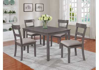 Image for Henderson Grey 5 Piece Dinette Set