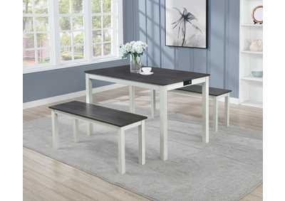 Image for Harley 3 Piece Dining Set W/ 2 Bench