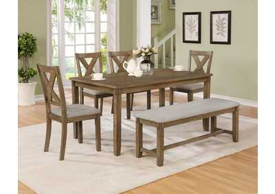 Image for Clara 5 Piece Dining Set W/ 4 Chairs