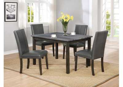 Pompei Grey Dining Table,Crown Mark