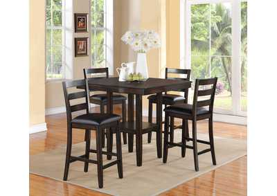 Image for Tahoe 5 Piece Set Counter Height Dining Table Set