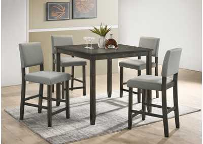 Derick Grey 5 Piece Set Counter Height Dining Table Set,Crown Mark