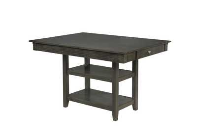 Image for Nina Grey Counter Height Dining Table Shelf