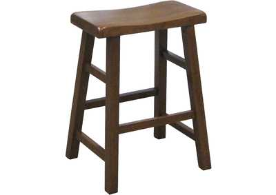 Image for Kirin Dark Oak 24 Saddle Stool Assembled