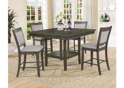 Image for Fulton Gray Counter Height Dining Table w/4 Side Chairs