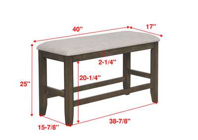 Image for Fulton Grey Counter Height Bench