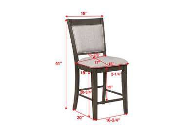 Image for Fulton Grey Counter Height Chair