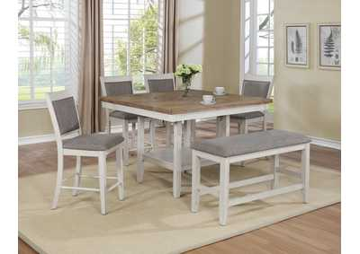 Image for Fulton White 5 Piece Dining Table Set (Dining Table w/4 Side Chairs)
