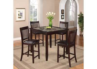 Image for Cascade 5 Piece Set Counter Height Dinette