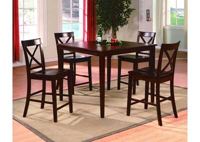 Theodore 5 Piece Set Counter Height Dining Table Set